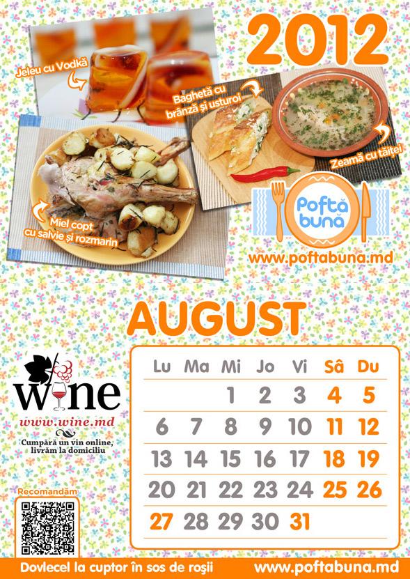 Câte un calendar fiecărui bucătar de pe PoftaBuna.md!