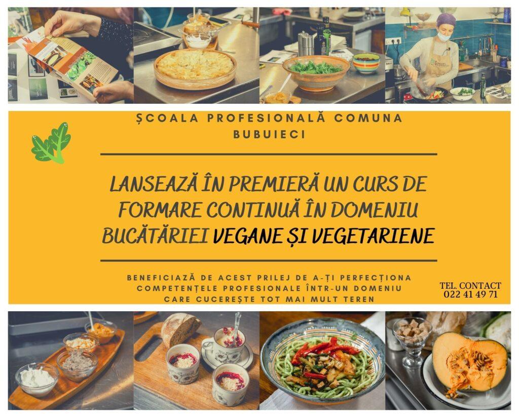 Curs de formare continuă în domeniul bucătăriei vegane și vegetariene